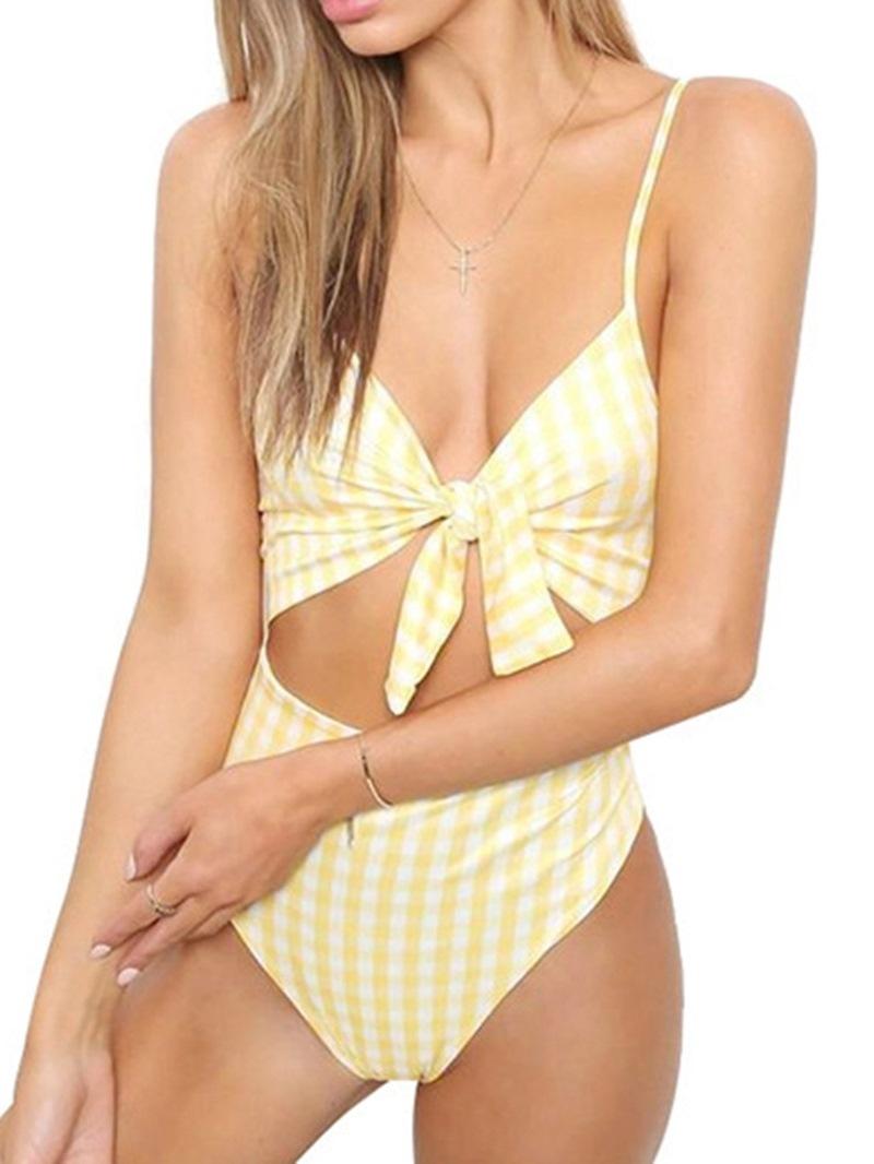 Ericdress Sexy One Piece Stripe Swimwear