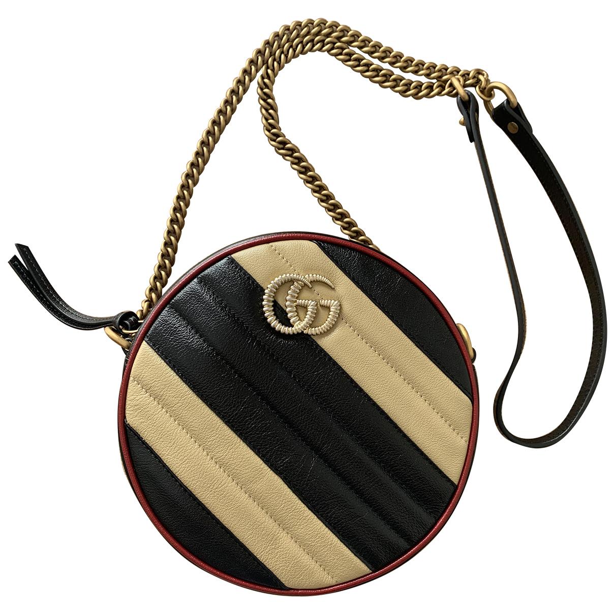 Gucci GG Marmont Circle Handtasche in  Beige Leder