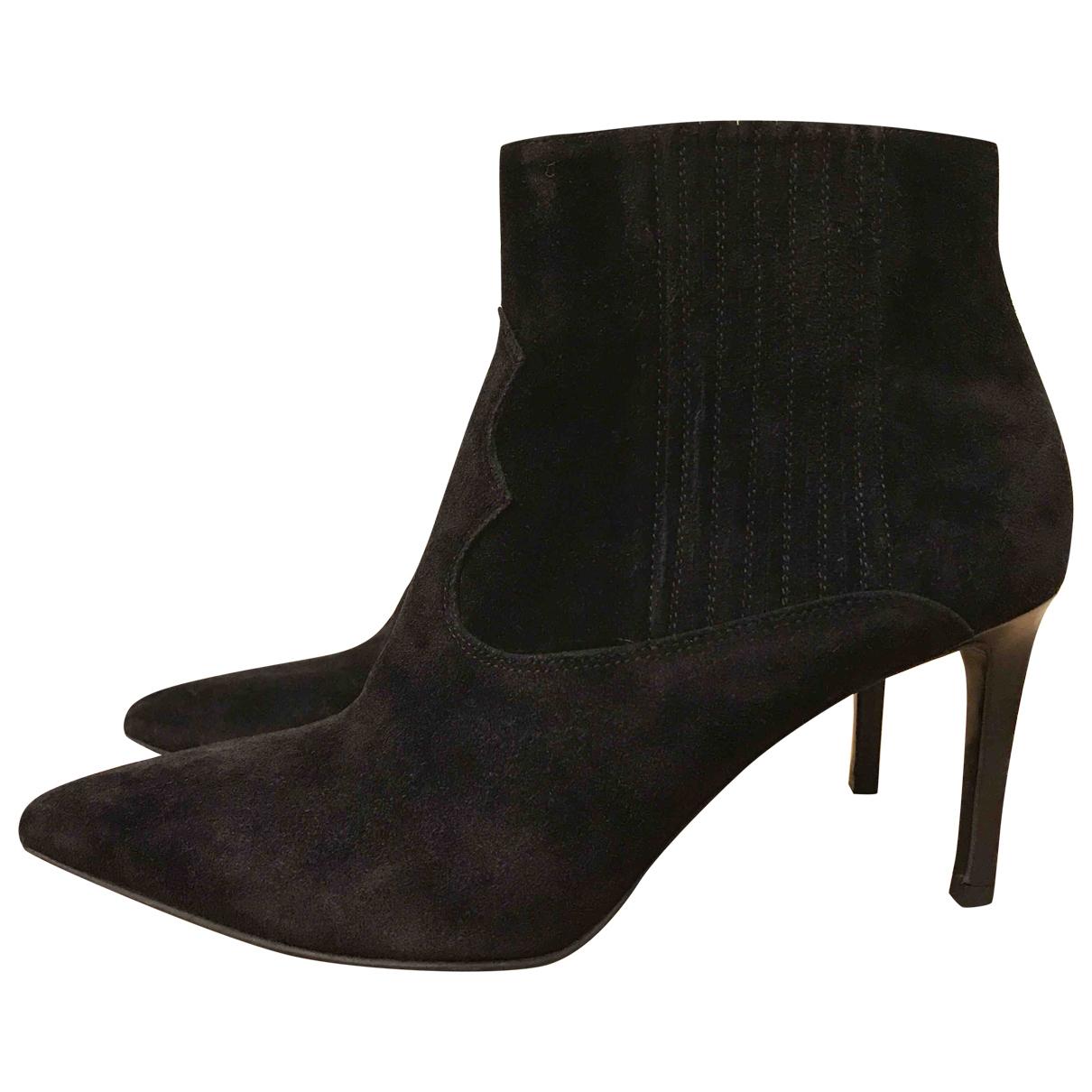 Saint Laurent \N Black Suede Ankle boots for Women 7 US