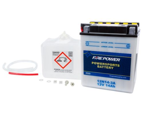 Fire Power Parts 490-2120 Battery W/Acid 12n14-3a 12v 490-2120