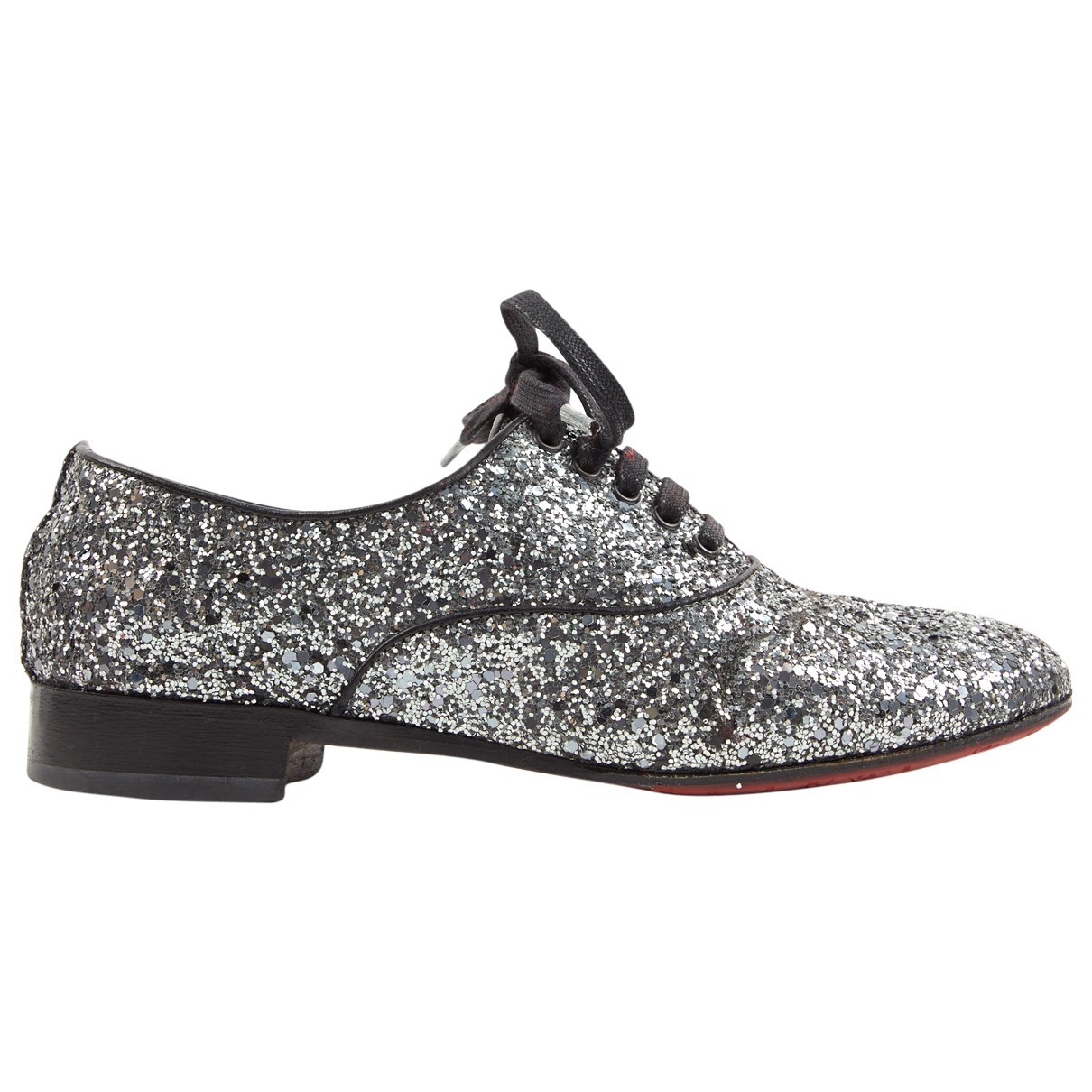 Christian Louboutin \N Silver Leather Lace ups for Women 37.5 EU