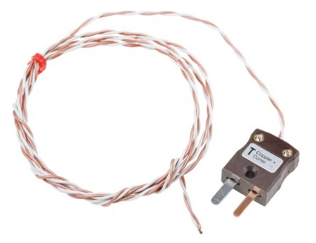 RS PRO Type T Thermocouple 7/0.2mm Diameter → +250°C