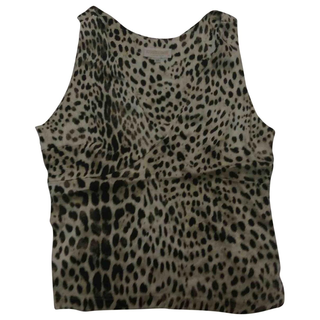 Roberto Cavalli \N Beige Silk  top for Women M International