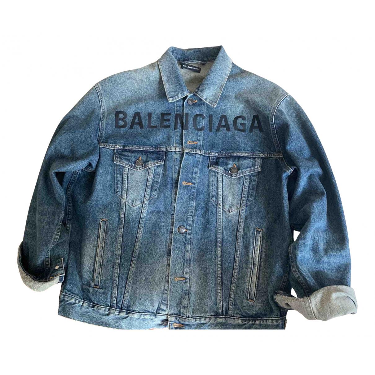 Balenciaga N Blue Denim - Jeans jacket  for Men 46 IT