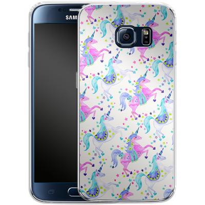 Samsung Galaxy S6 Silikon Handyhuelle - Unicorns Pastel von Cat Coquillette