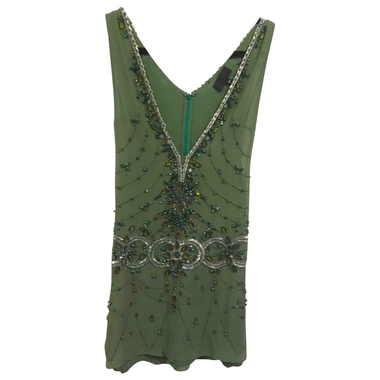 John Richmond \N Green Silk dress for Women 38 IT