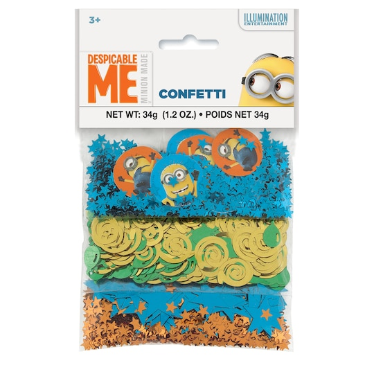 Despicable Me Confetti, Assorted 3Pk By Universal Studios | Michaels®