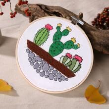 Cactus Pattern Cross Stitch