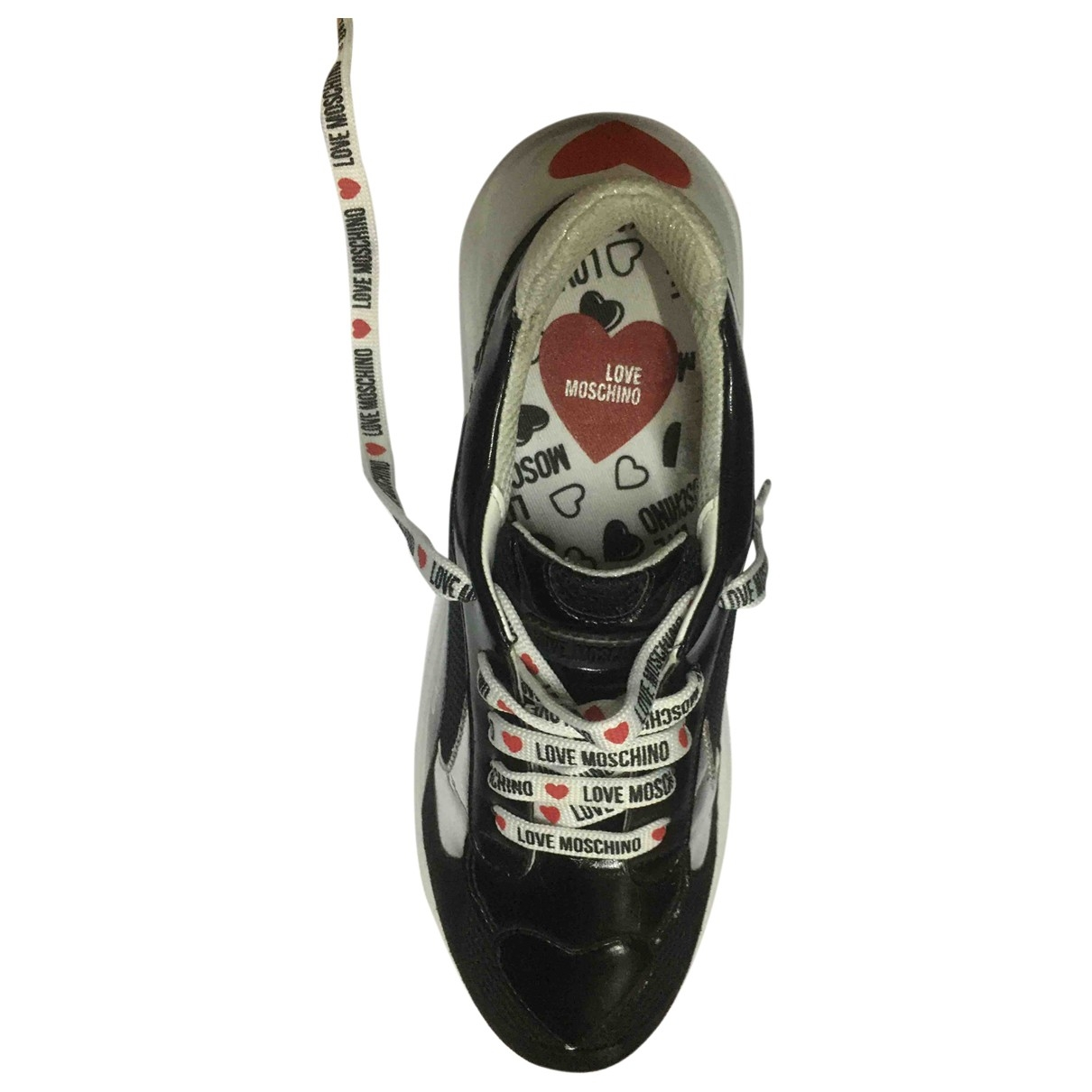 Moschino Love \N Sneakers in  Schwarz Leinen