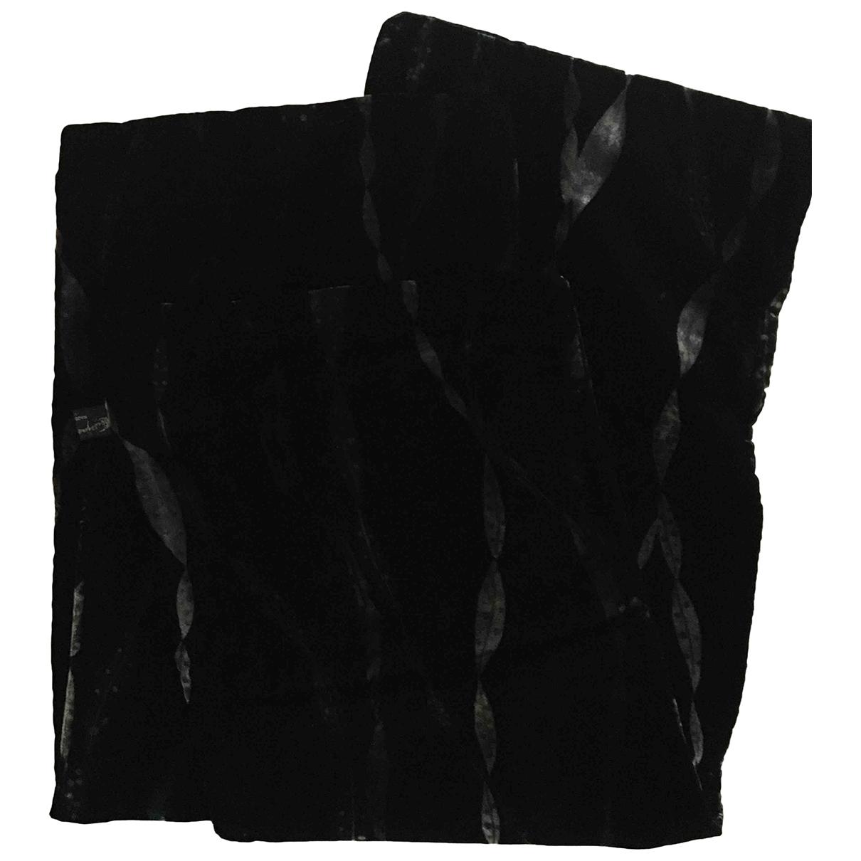 Non Signé / Unsigned \N Black Velvet scarf for Women \N