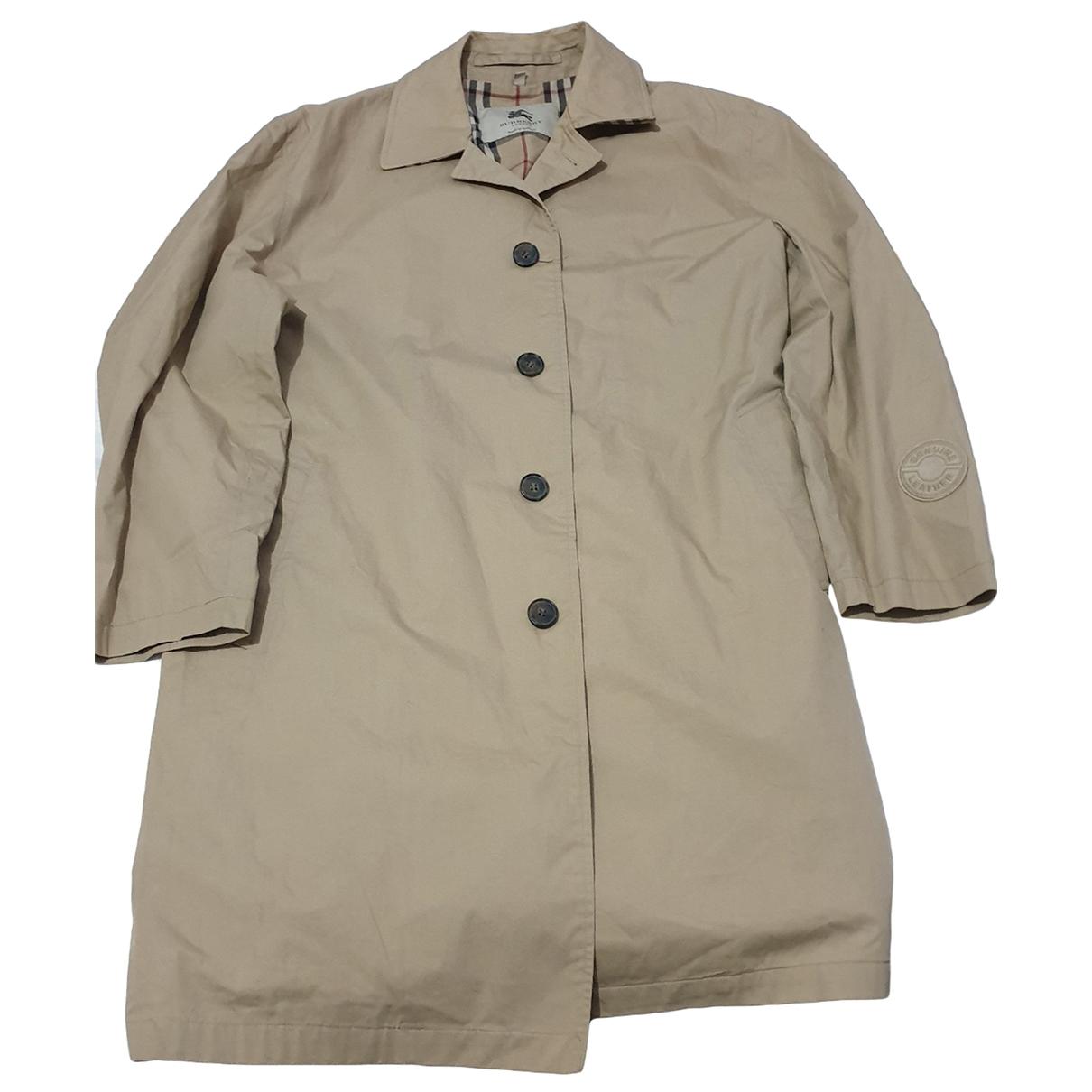 Burberry \N Beige Cotton coat  for Men L International