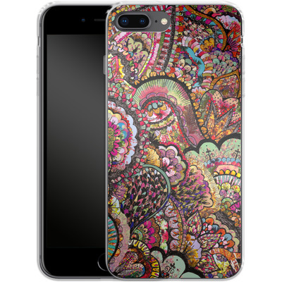 Apple iPhone 8 Plus Silikon Handyhuelle - Her Hair Les Fleur von Bianca Green