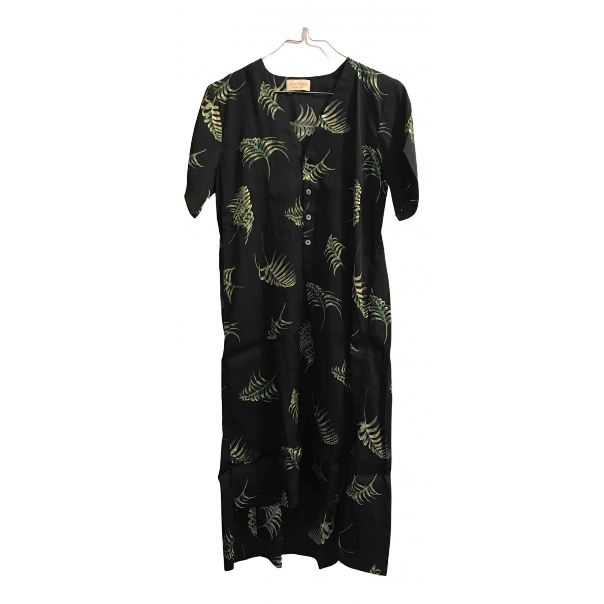 Momoni \N Kleid in  Schwarz Viskose