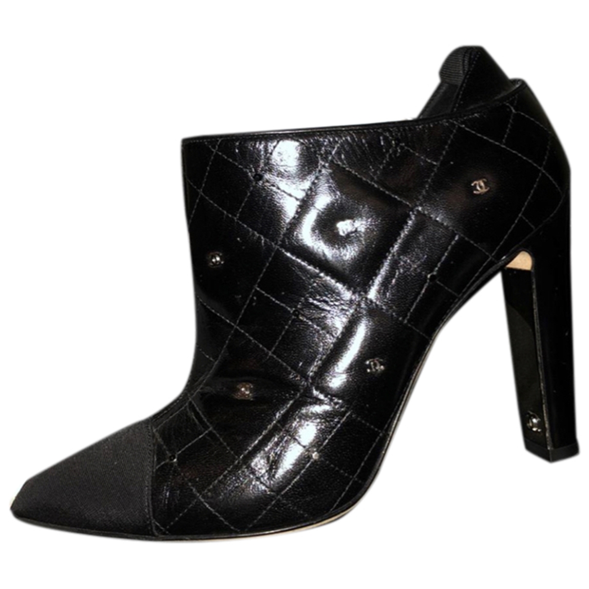 Chanel \N Black Leather Ankle boots for Women 38 EU