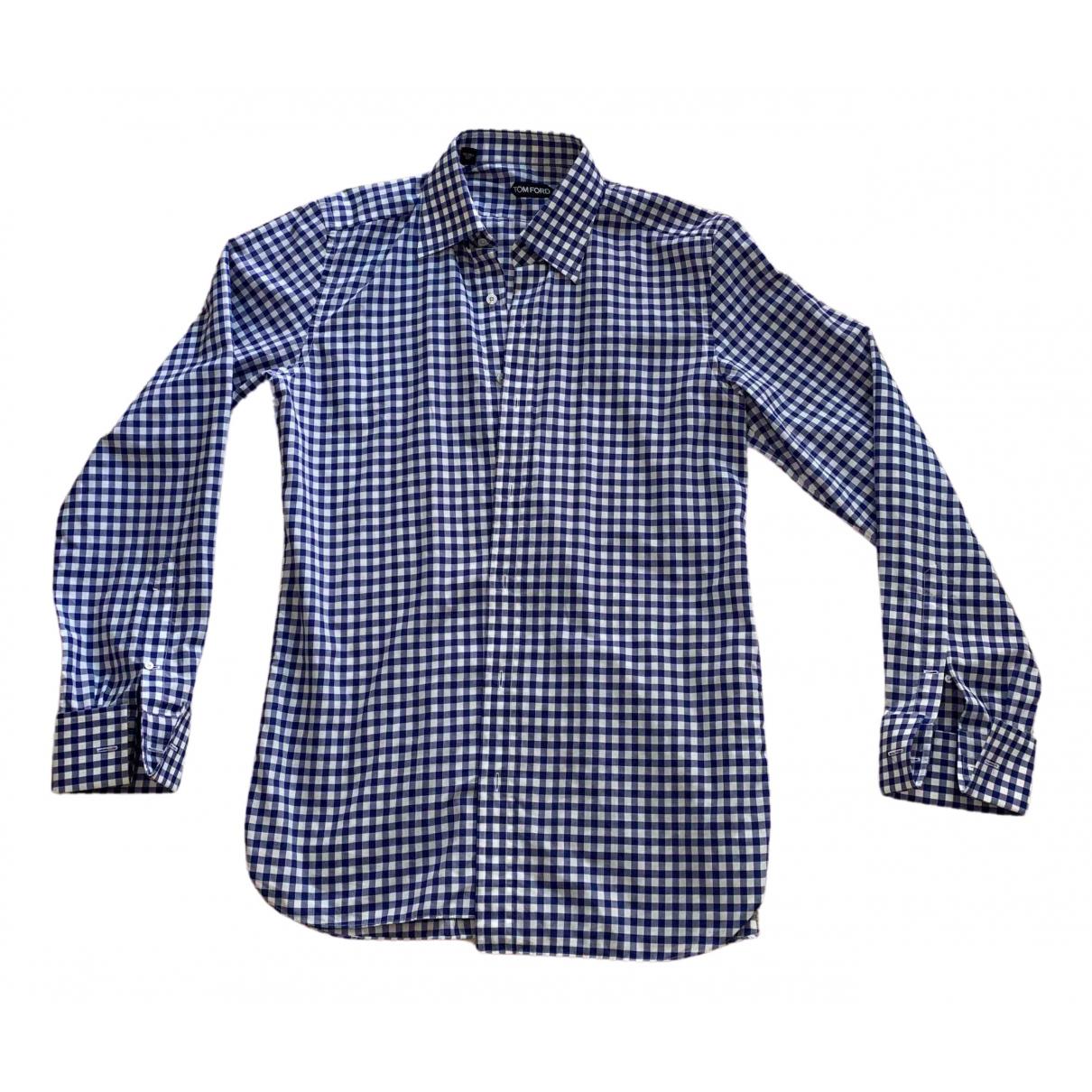 Tom Ford \N Hemden in  Blau Baumwolle