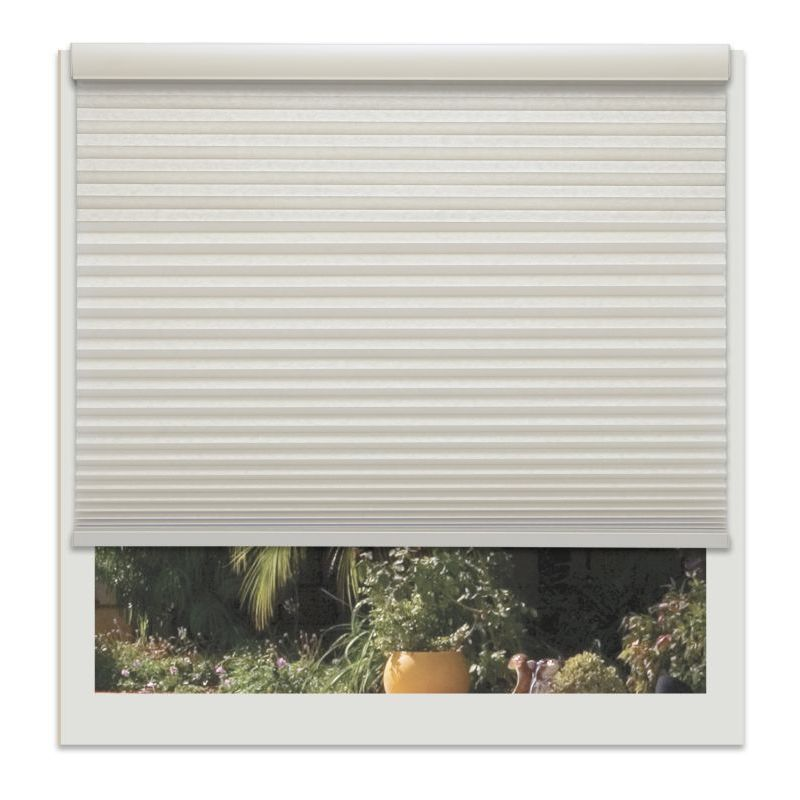 Linen Avenue Custom Cordless Off-white 22- to 23-inch Wide Seashell Light-filtering Cellul (22 3/4 W x 30 to 36 H)