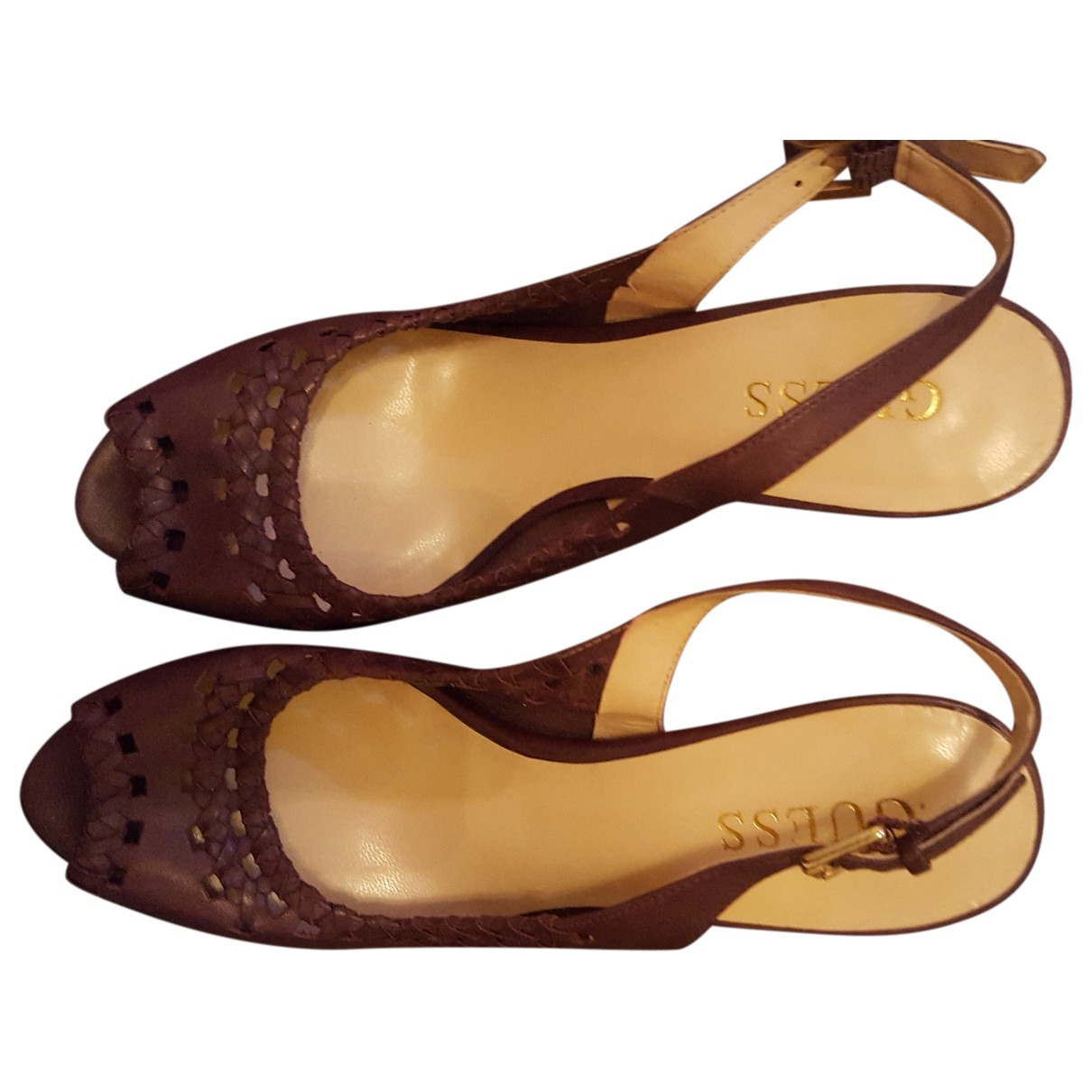 Guess N Patent leather Heels for Women 36 EU