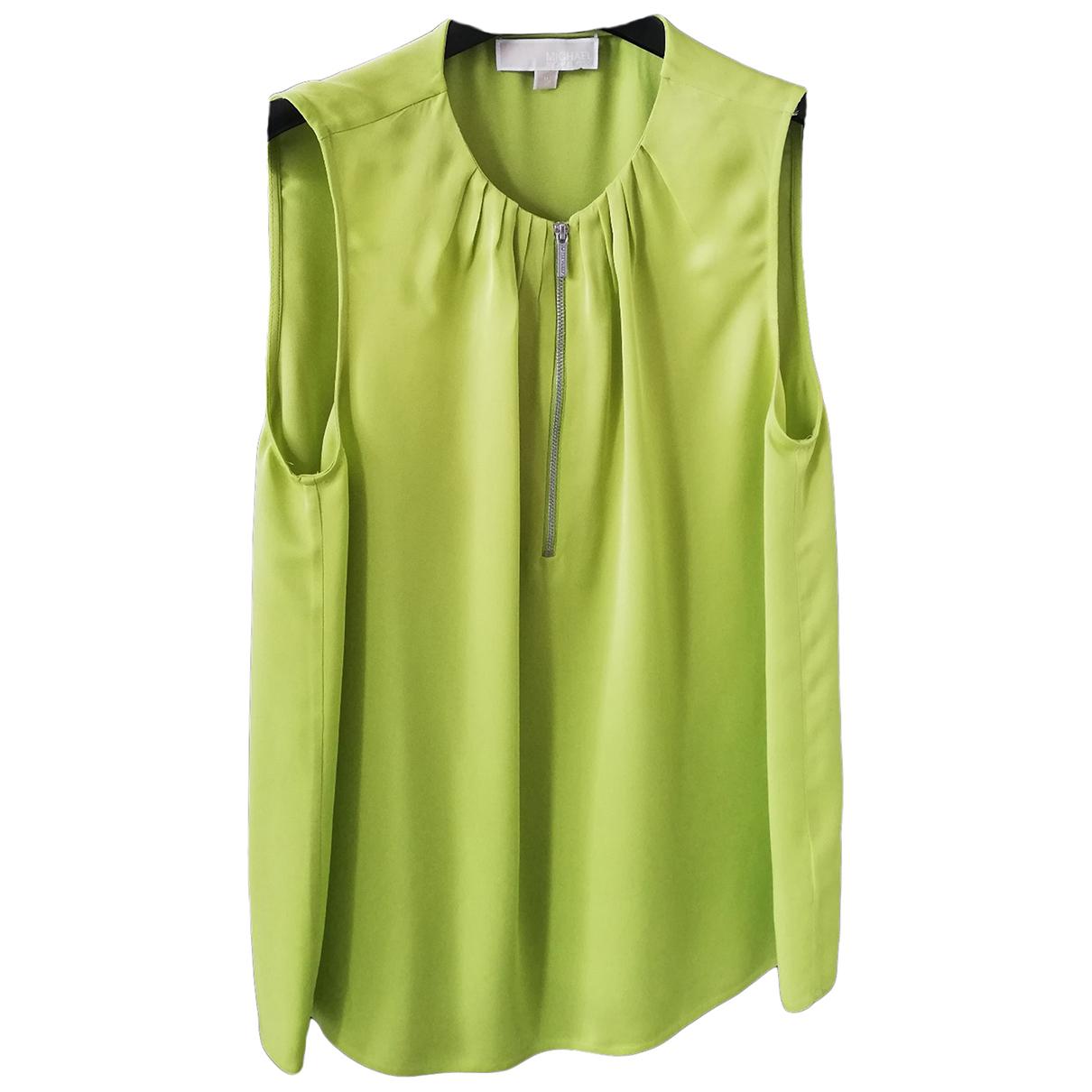 Michael Kors - Top   pour femme en soie - vert
