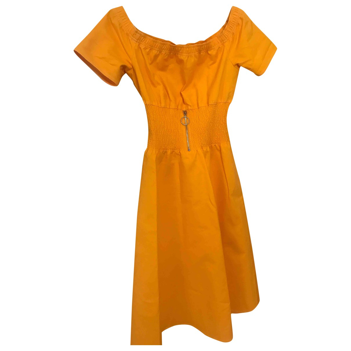 Maje \N Yellow Cotton dress for Women 38 FR