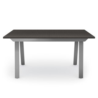 Amisco Drift Extendable Dining Table (Grey Metal and Dark Warm Gray Veneer)