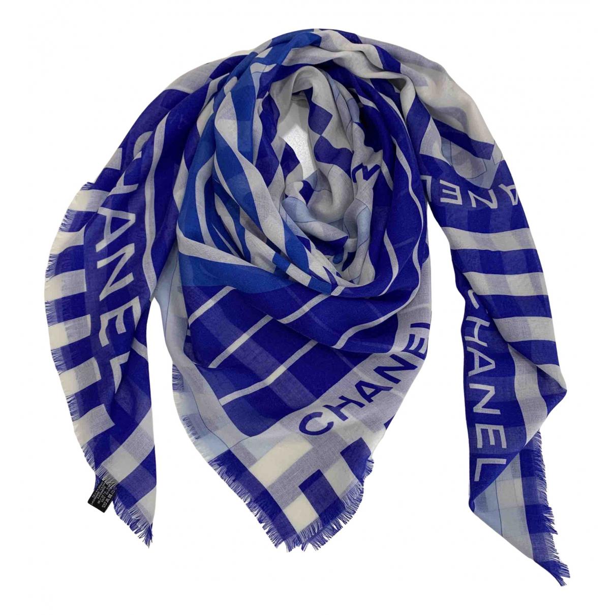 Chanel \N Schal in  Blau Kaschmir