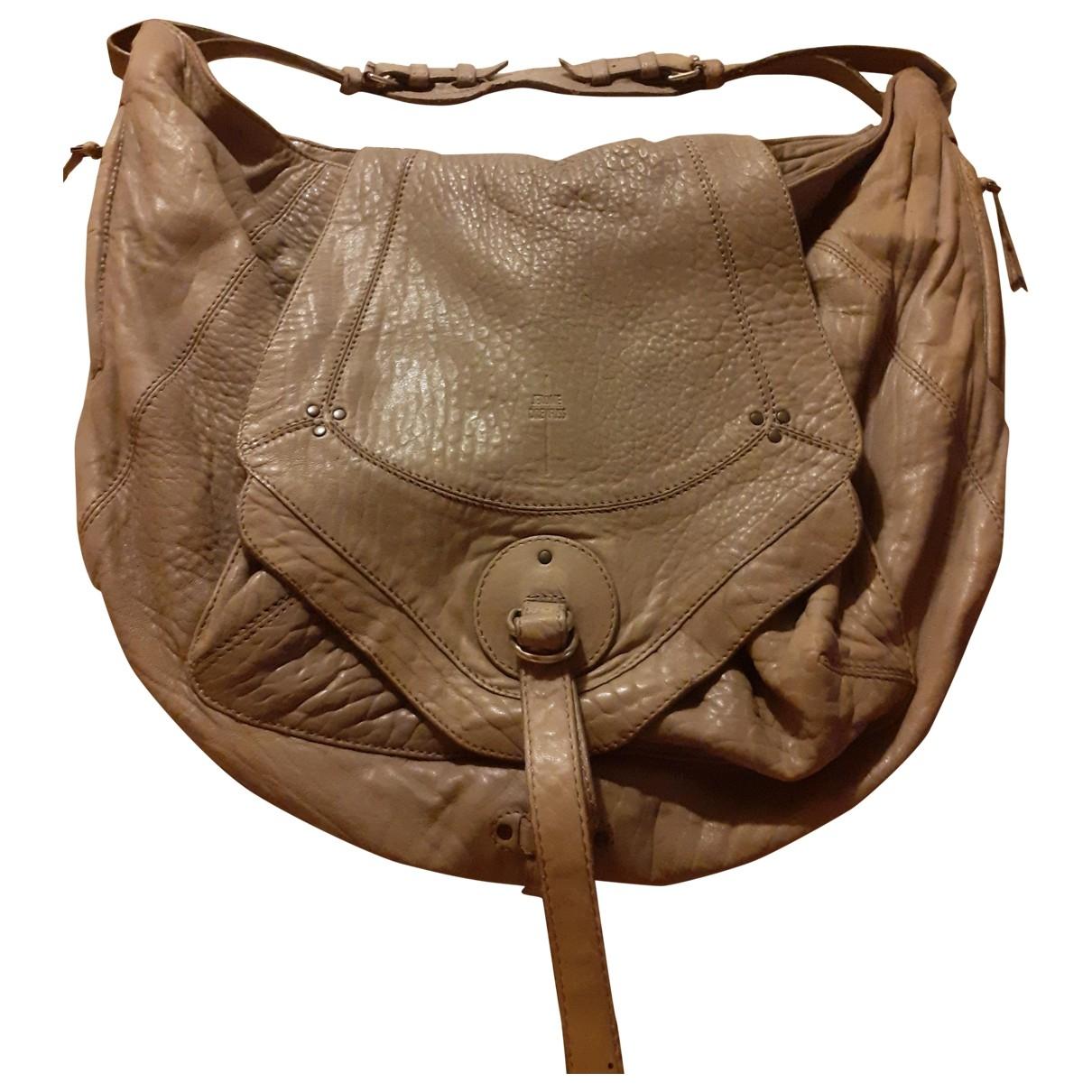 Jerome Dreyfuss Bob Grey Leather handbag for Women \N