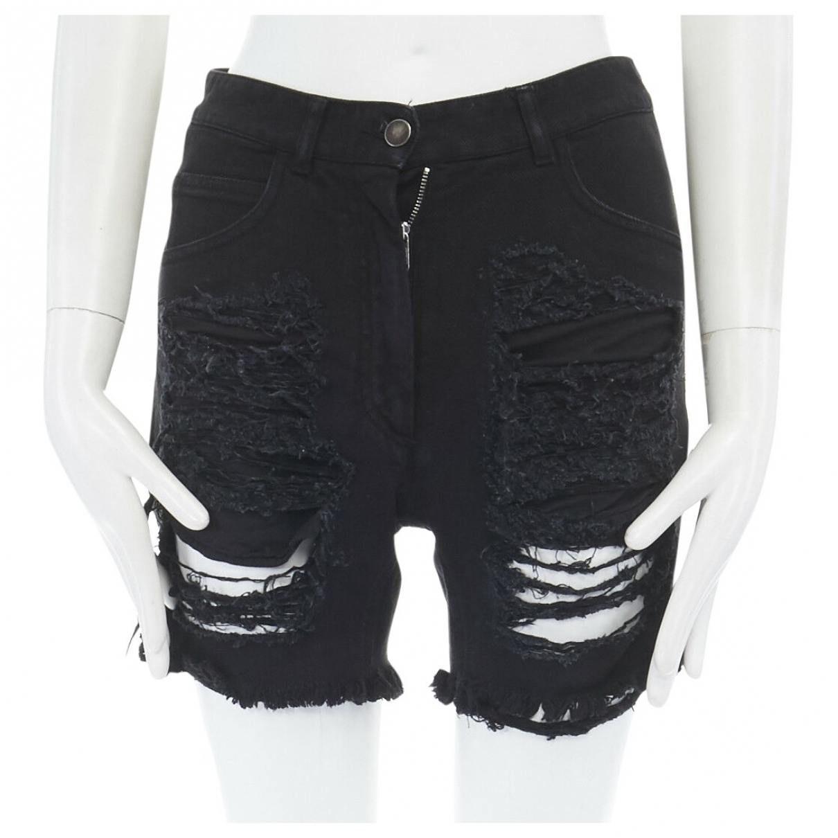 Maison Martin Margiela \N Black Cotton Shorts for Women 40 FR