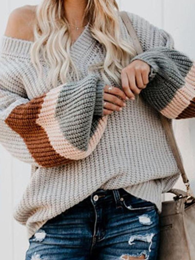 Ericdress Lantern Sleeve Thin Long Sleeve Fall Sweater