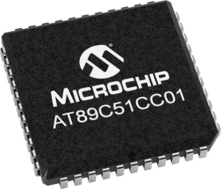 Microchip AT89C51CC01CA-SLSUM, 8bit 8 bit CPU Microcontroller, AT89C51, 40MHz, 32 kB Flash, 44-Pin PLCC (27)
