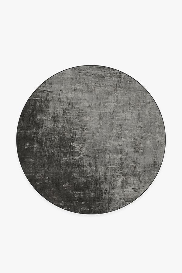 Washable Rug Cover | Impasto Greyscale Rug | Stain-Resistant | Ruggable | 6' Round