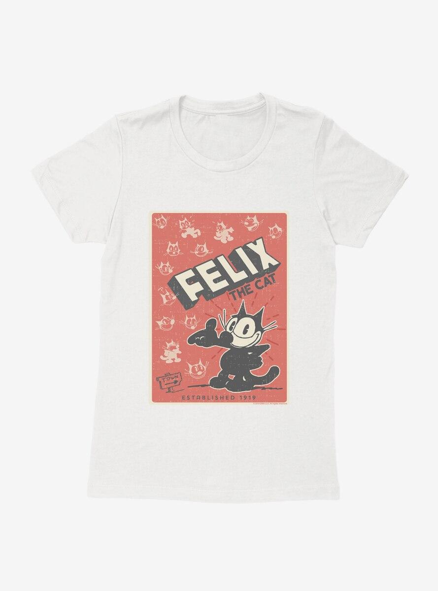 Felix The Cat Vintage Poster Womens T-Shirt