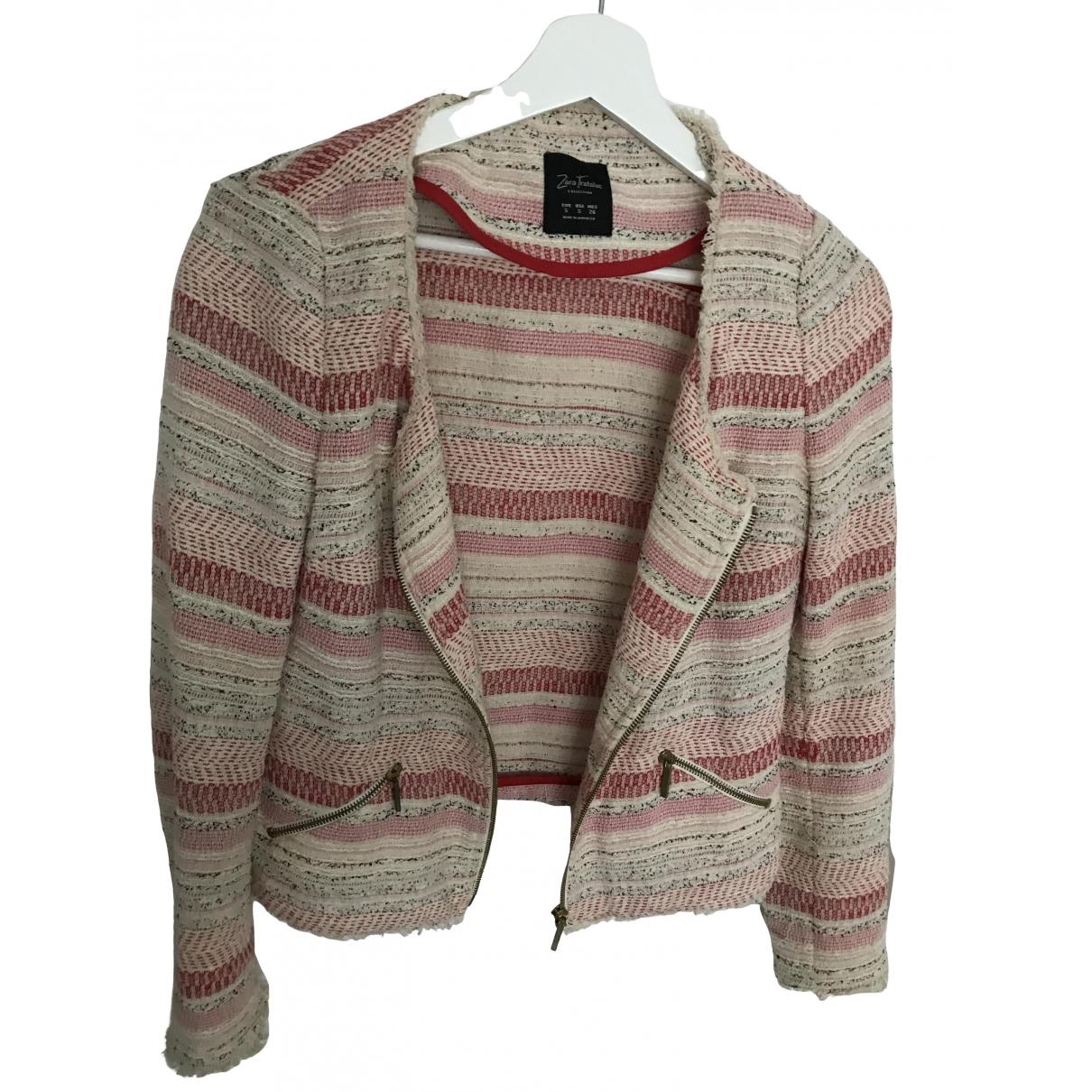 Zara \N Pink Tweed jacket for Women S International
