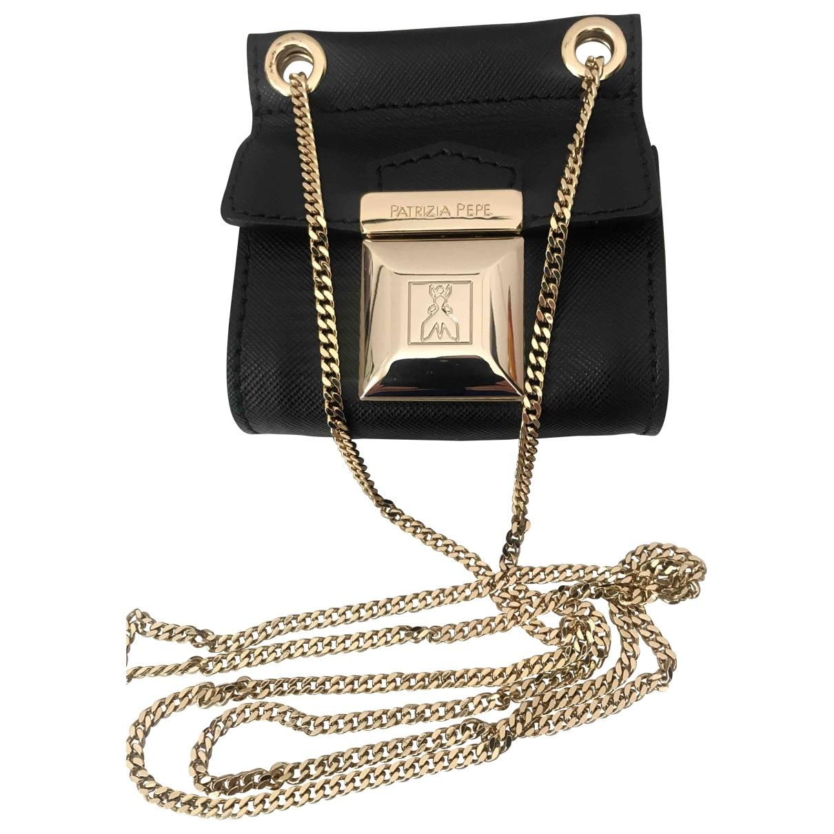 Patrizia Pepe \N Black Leather Clutch bag for Women \N