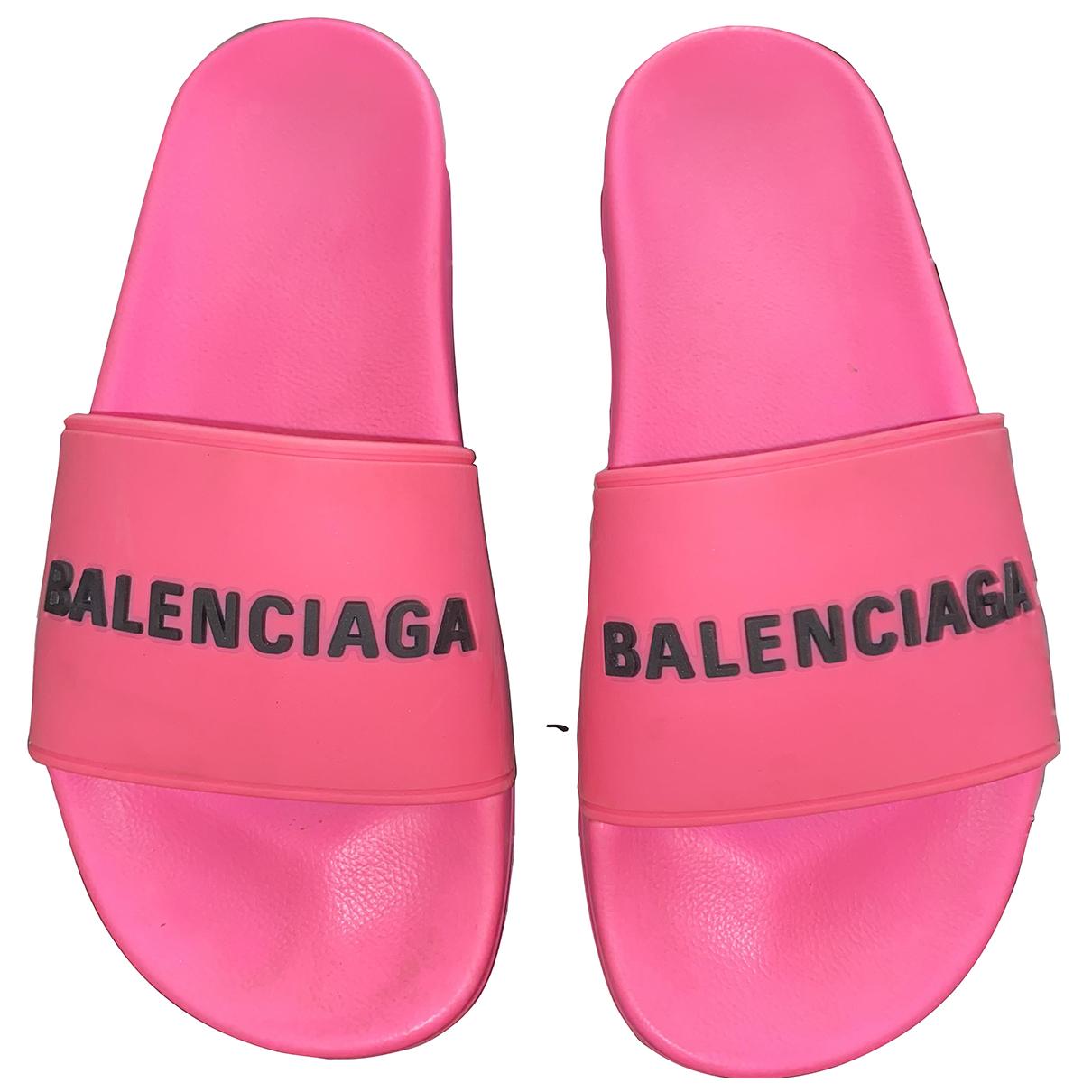 Balenciaga - Sandales   pour femme en caoutchouc - rose