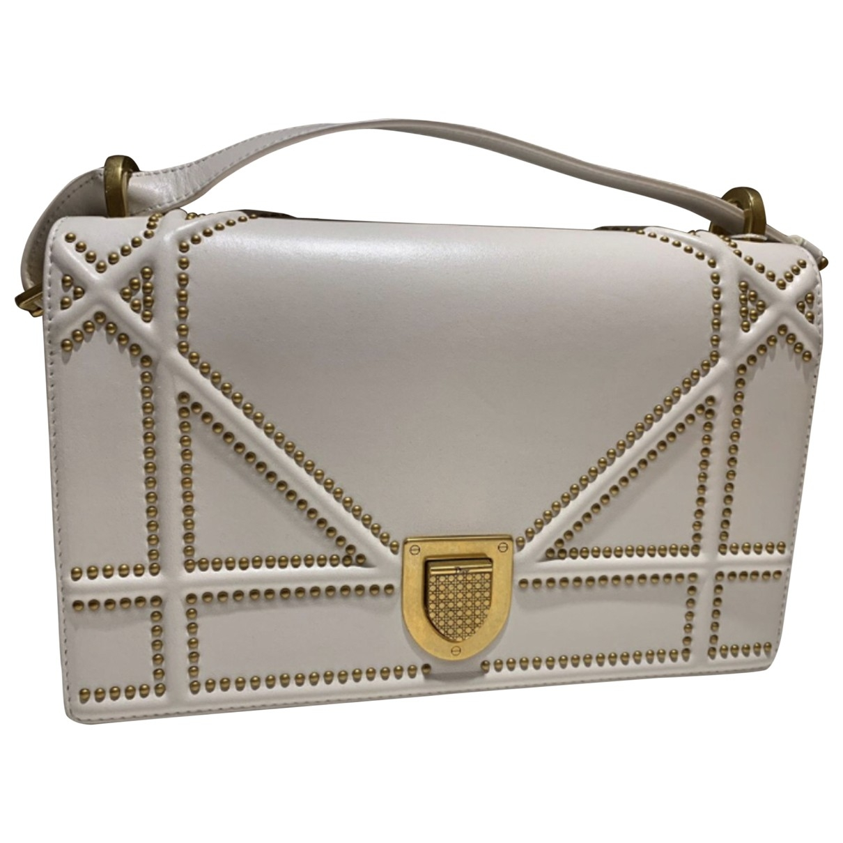 Dior Diorama White Leather handbag for Women \N