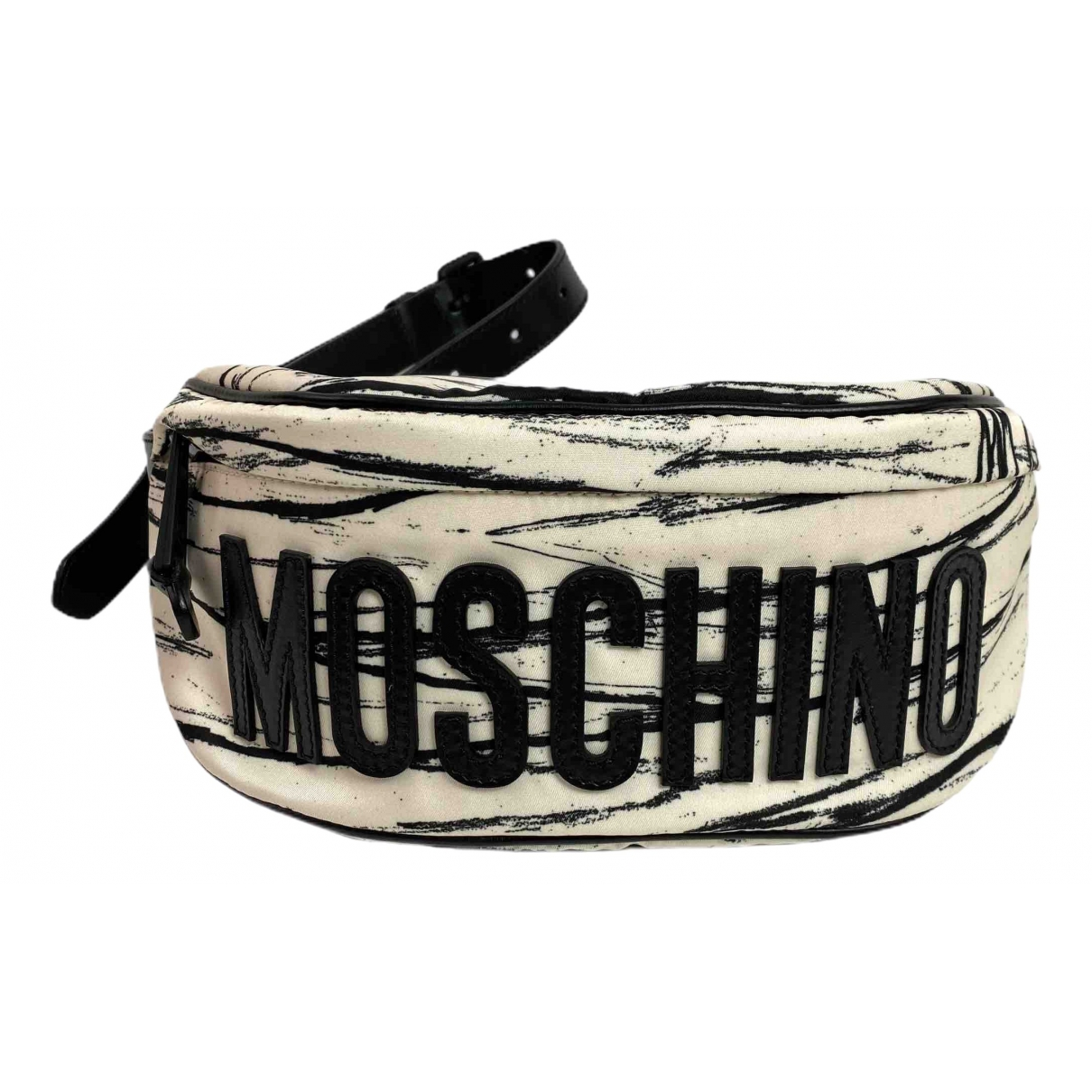 Moschino \N Clutch in  Bunt Leinen