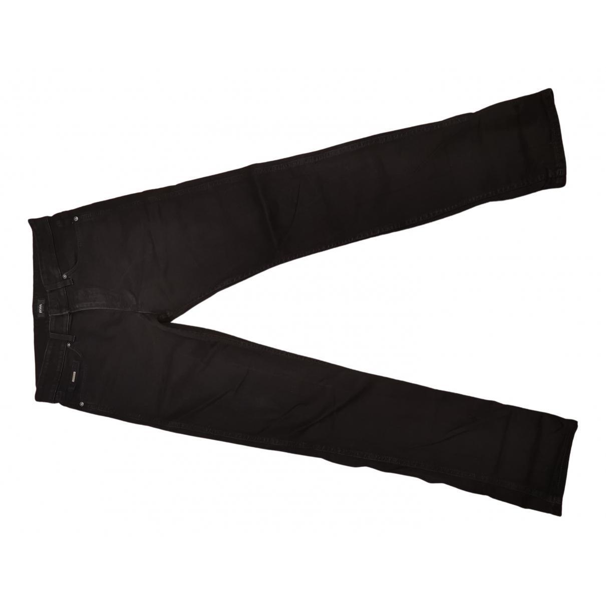 Boss - Pantalon   pour homme en denim - noir