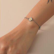 Armband mit Blumen Dekor und Kette