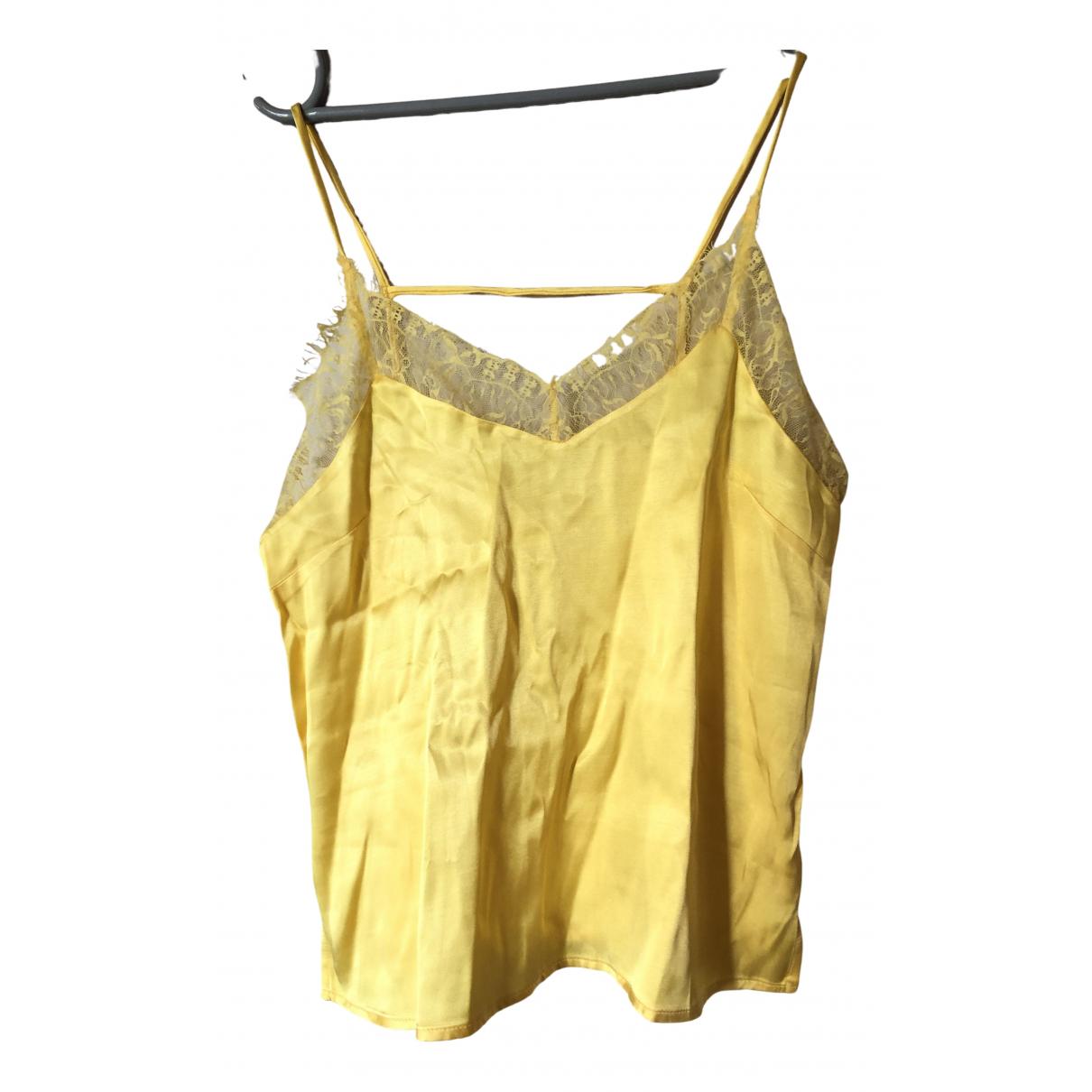 Mango - Top   pour femme - jaune