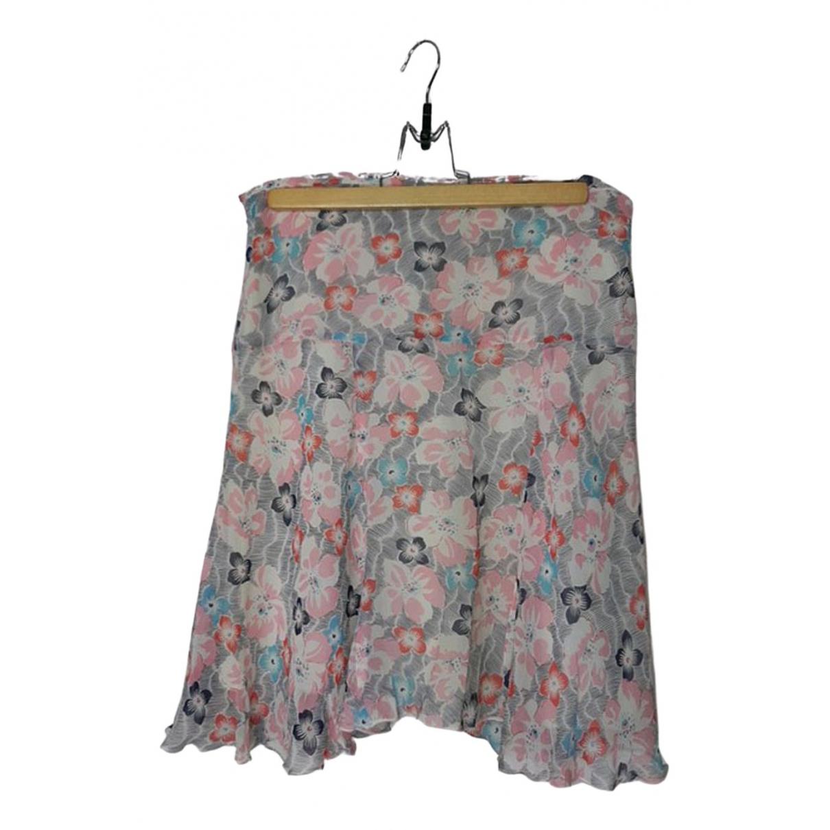Maje - Jupe   pour femme en soie - multicolore