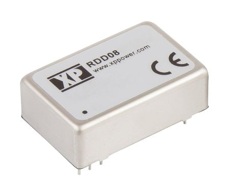 XP Power RDD 8W Isolated DC-DC Converter Through Hole, Voltage in 13 → 70 V dc, Voltage out 12V dc Railway