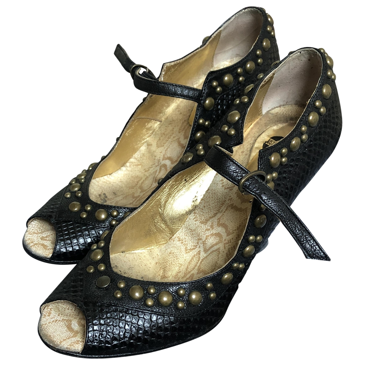 Just Cavalli - Espadrilles   pour femme en cuir - noir
