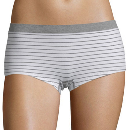 Flirtitude Seamless Boyshort, Large , Gray