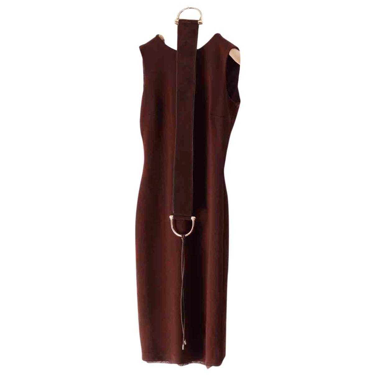 Gucci - Robe   pour femme en laine - marron