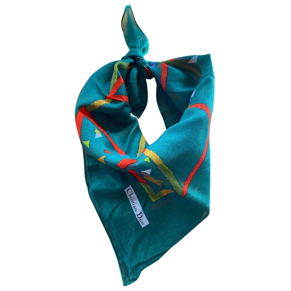 Dior N Green Cotton Silk handkerchief for Women N