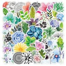 50 Stuecke Aufkleber mit Blumen Muster