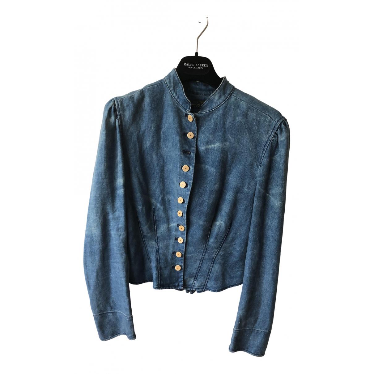Lauren Ralph Lauren - Veste   pour femme en lin - bleu