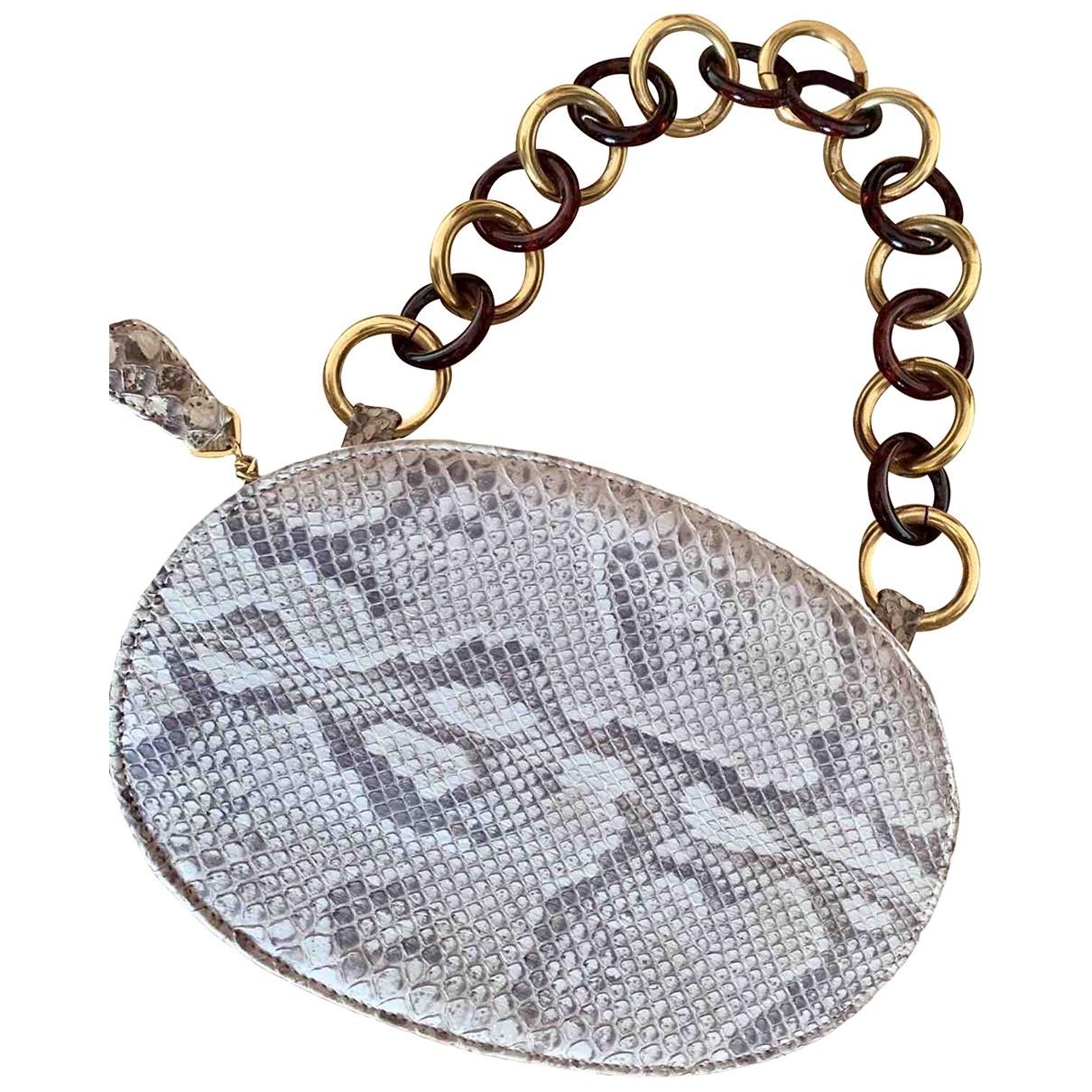 Valentino Garavani \N Clutch in  Grau Python