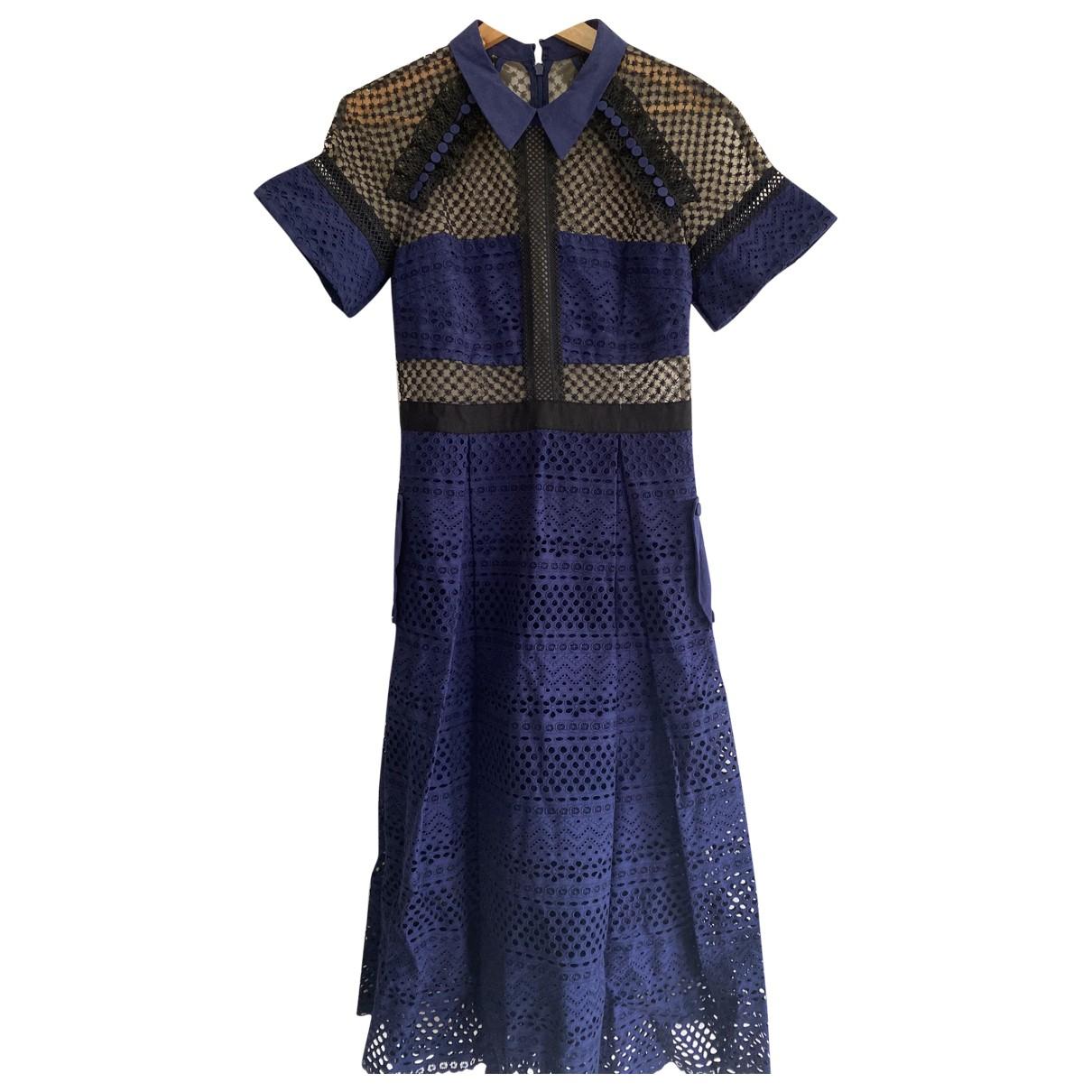 Self Portrait \N Blue Cotton dress for Women 10 UK