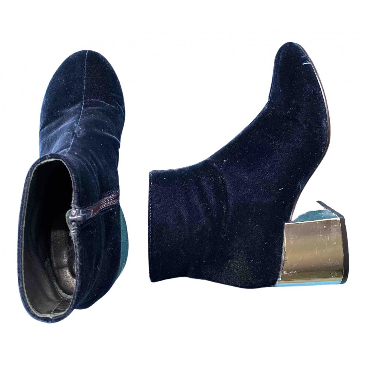 Mm6 \N Stiefeletten in  Blau Samt